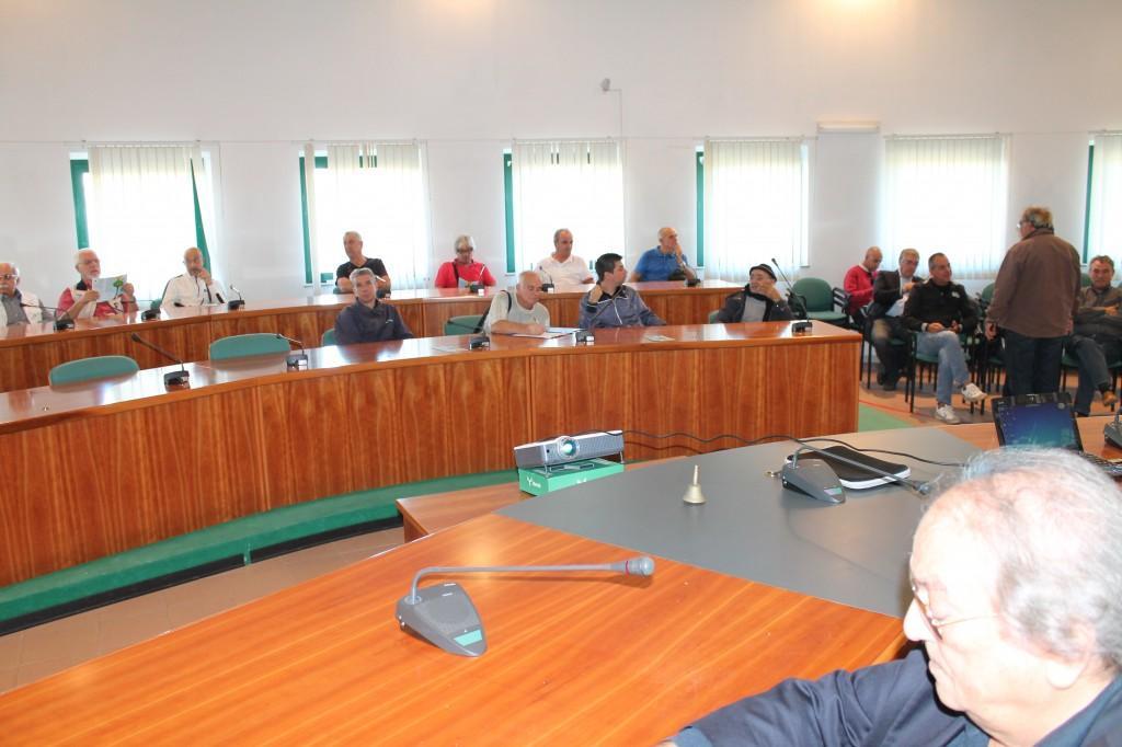 Panoramica della sala consiliare