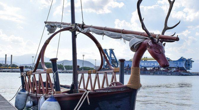Presentazione di una barca nuragica a Arbatax